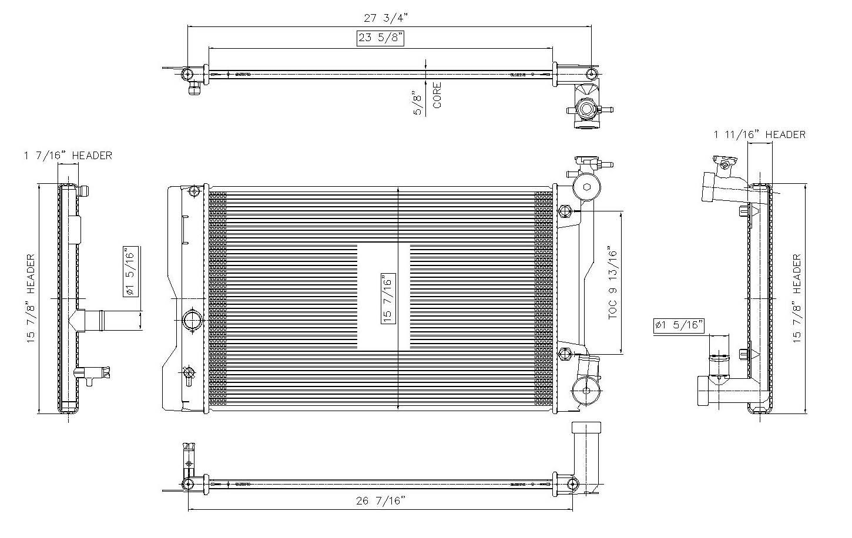 TYC # 13106 Radiator Replaces OE # 16410-0H261