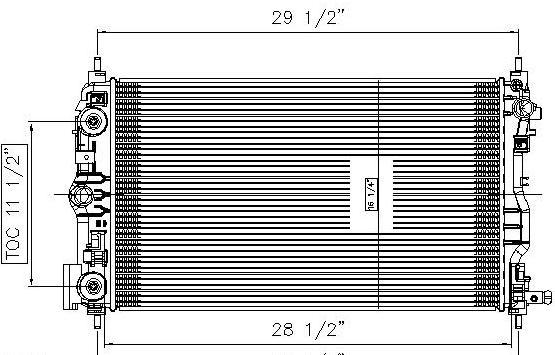 TYC # 13146 Radiator Replaces OE # 23453634