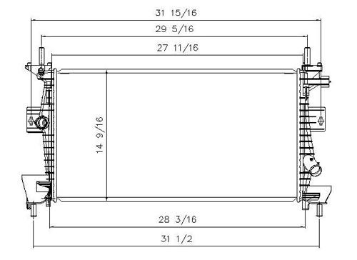 TYC # 13219 Radiator Replaces OE # CV6Z 8005A