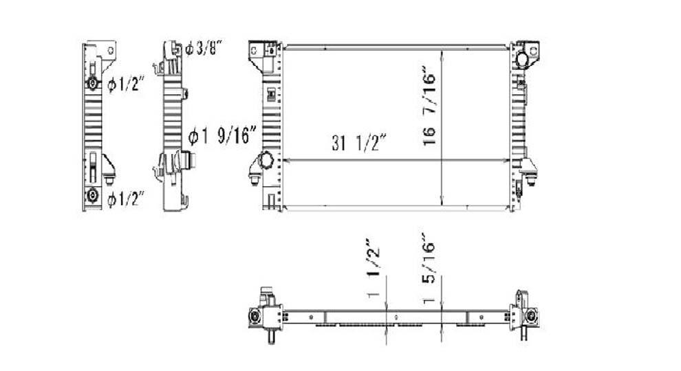 TYC # 13229 Radiator Replaces OE # BL3Z-8005-C