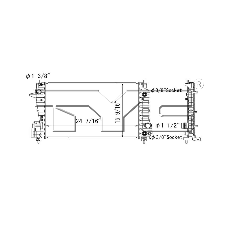 TYC # 13248 Radiator Replaces OE # 95316049