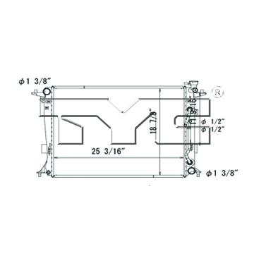 TYC # 13420 Radiator Replaces OE # 25310-2M500