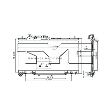 TYC # 13460 Radiator Replaces OE # 45111-AL05A