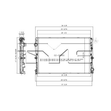 TYC # 13507 Radiator Replaces OE # 099 500 21 03