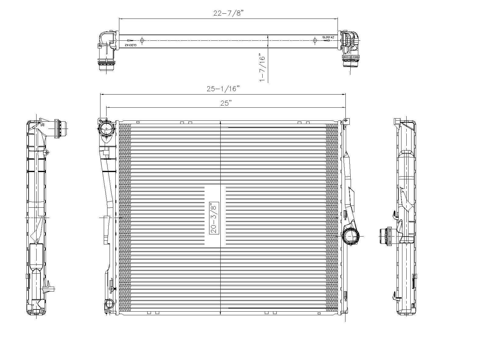 TYC # 2771 Radiator Replaces OE # 17 11 3 400 013
