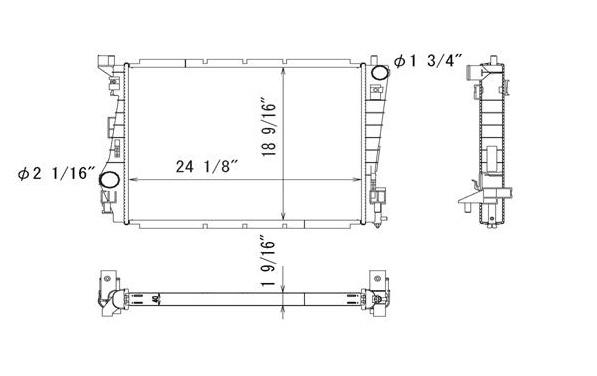 TYC # 2953 Radiator Replaces OE # AR3Z-8005-A