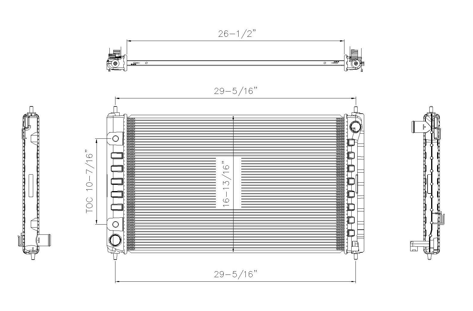 TYC # 2988 Radiator Replaces OE # 21460-ZN50A