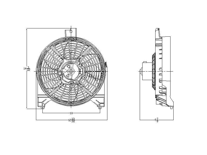 TYC # 611180 Radiator Fan Fits OE # 92120-ZT00A