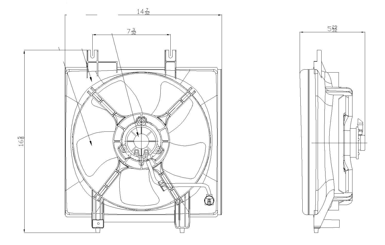 TYC # 611250 Radiator Fan Fits OE # 73310AG030