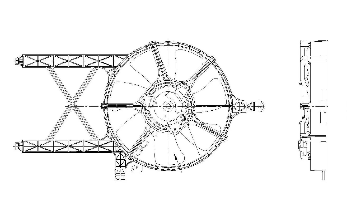 TYC # 611260 Radiator Fan Fits OE # 92120-ZL00A