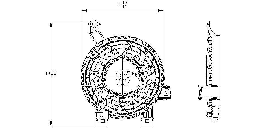 TYC # 611270 Radiator Fan Fits OE # 88590-60060