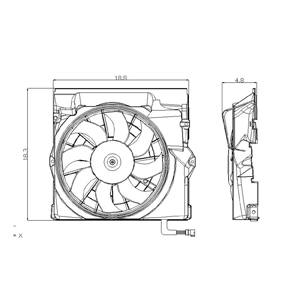 TYC # 611450 Radiator Fan Fits OE # 64 508 364 093