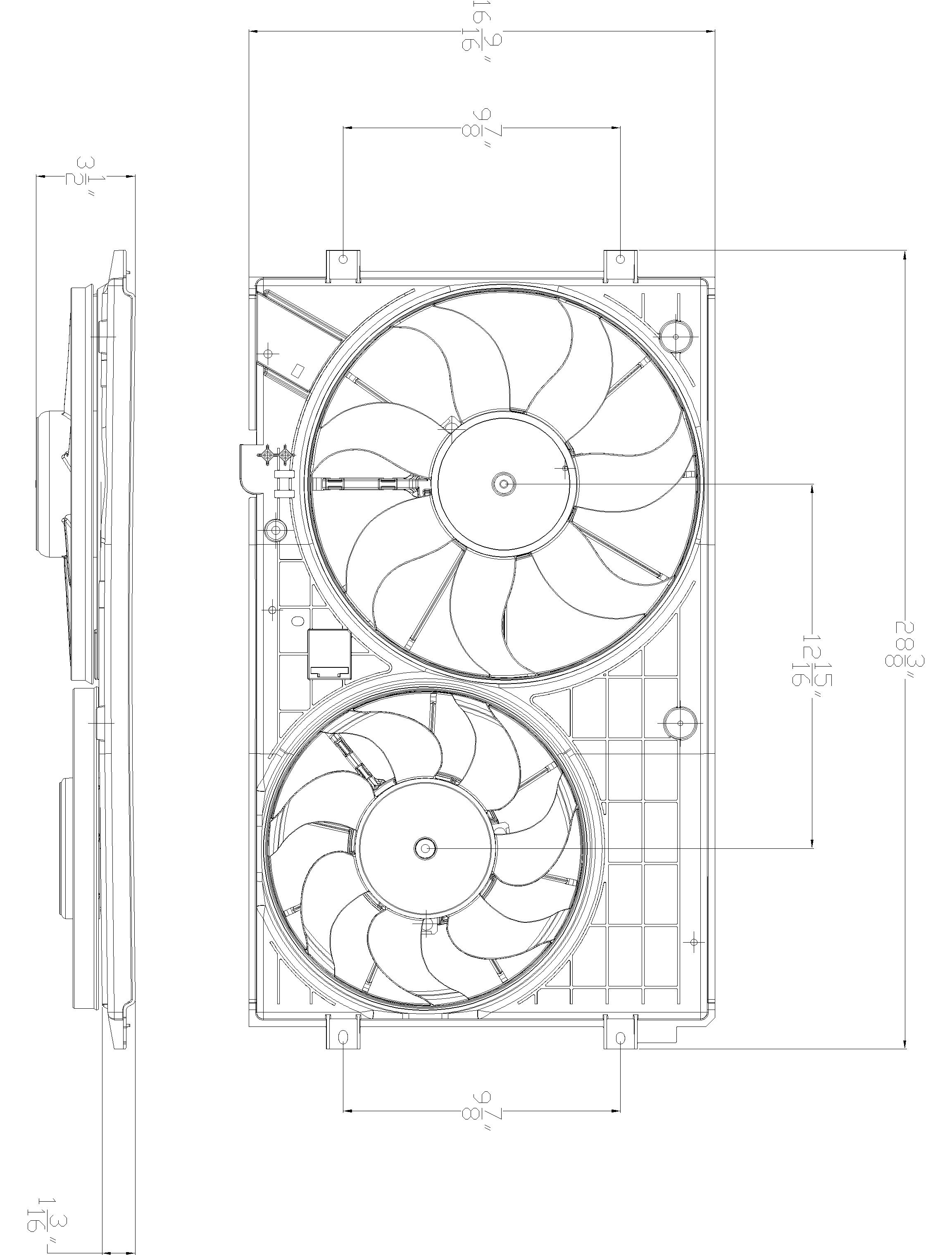 TYC # 621490 Radiator Fan Fits OE # 1K0 959 455 ET