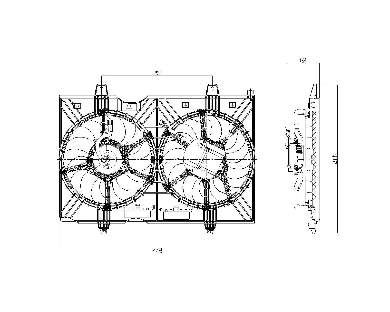 TYC # 621880 Radiator Fan Fits OE # 21481-JM00B