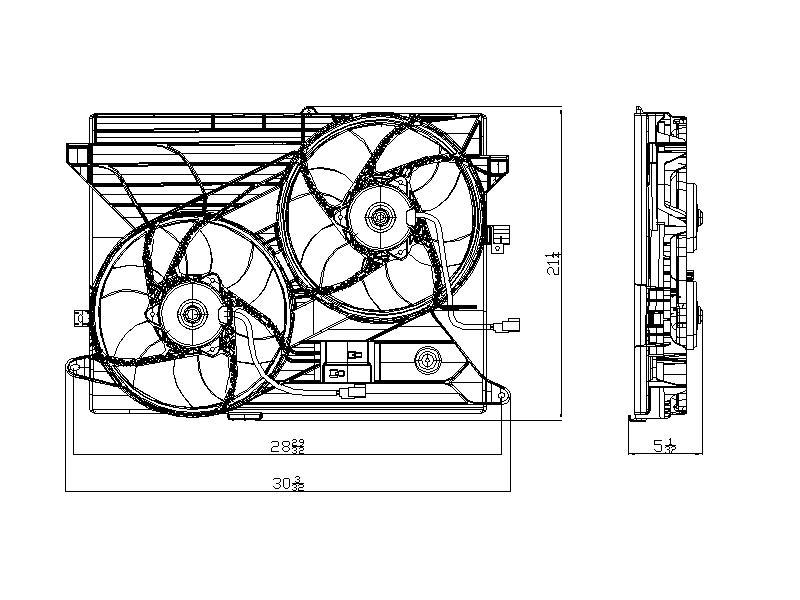 TYC # 621910 Radiator Fan Fits OE # 89019135