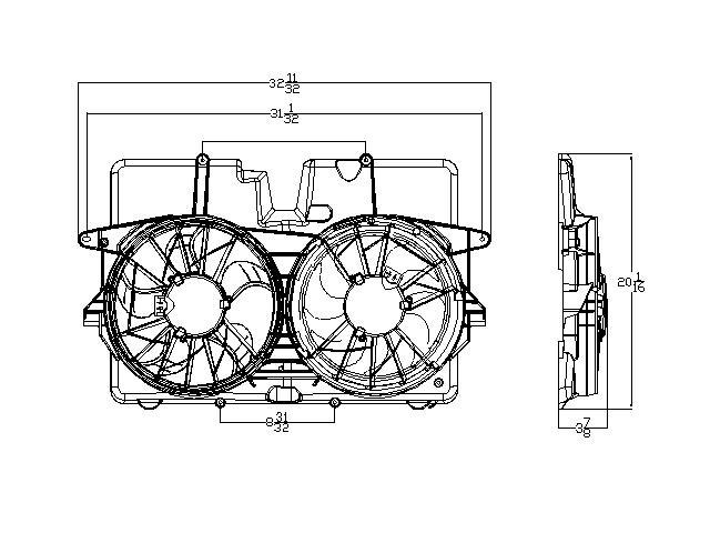 TYC # 621920 Radiator Fan Fits OE # 5L8Z 8C607 HB