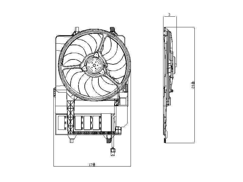 TYC # 621980 Radiator Fan Fits OE # 17 10 1 475 577