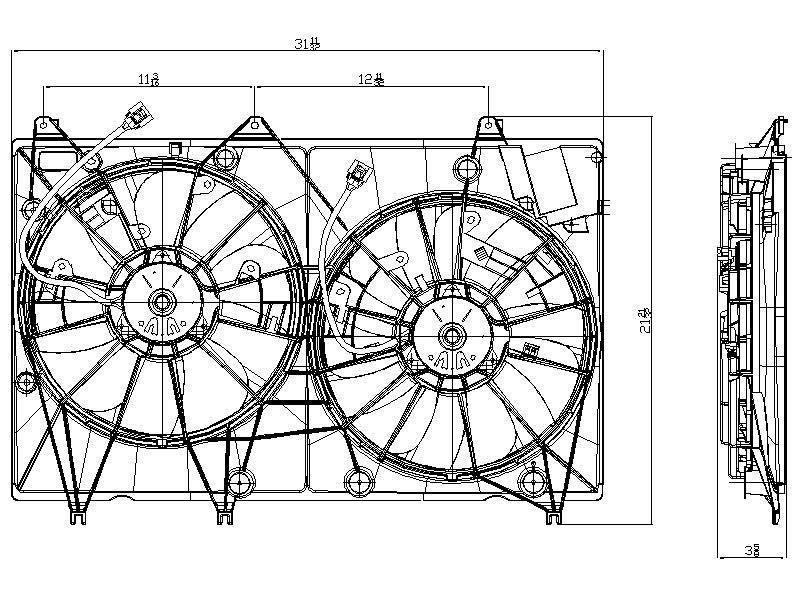 TYC # 622020 Radiator Fan Fits OE # 16361-20250