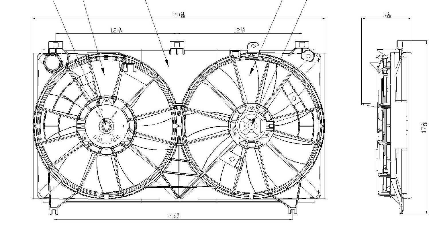 TYC # 622060 Radiator Fan Fits OE # 16363-28290