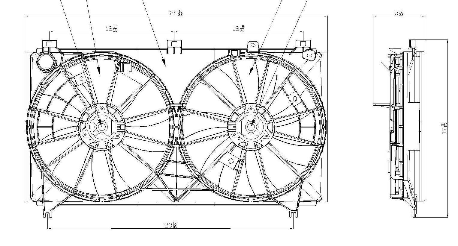 TYC # 622070 Radiator Fan Fits OE # 16361-31100