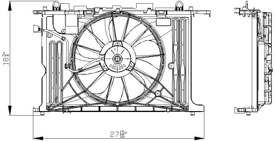 TYC # 622130 Radiator Fan Fits OE # 16361-0T040