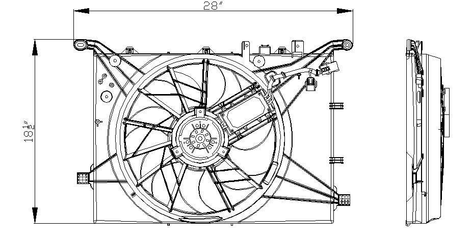 TYC # 622140 Radiator Fan Fits OE # 30680547