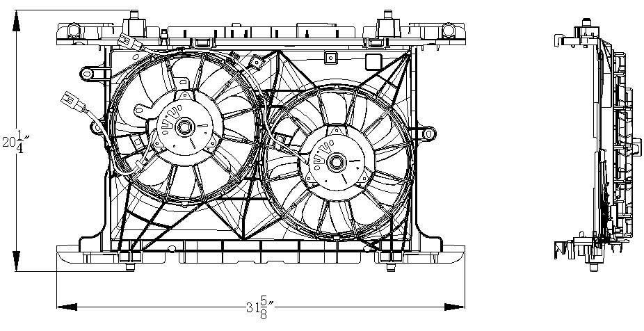 TYC # 622160 Radiator Fan Fits OE # 16363-28390