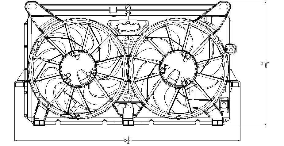 TYC # 622210 Radiator Fan Fits OE # 15780794
