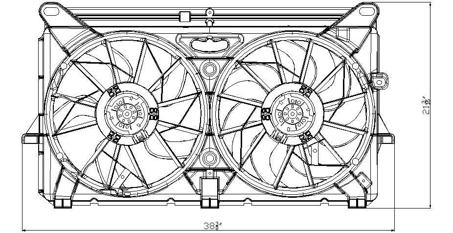 TYC # 622220 Radiator Fan Fits OE # 89024933