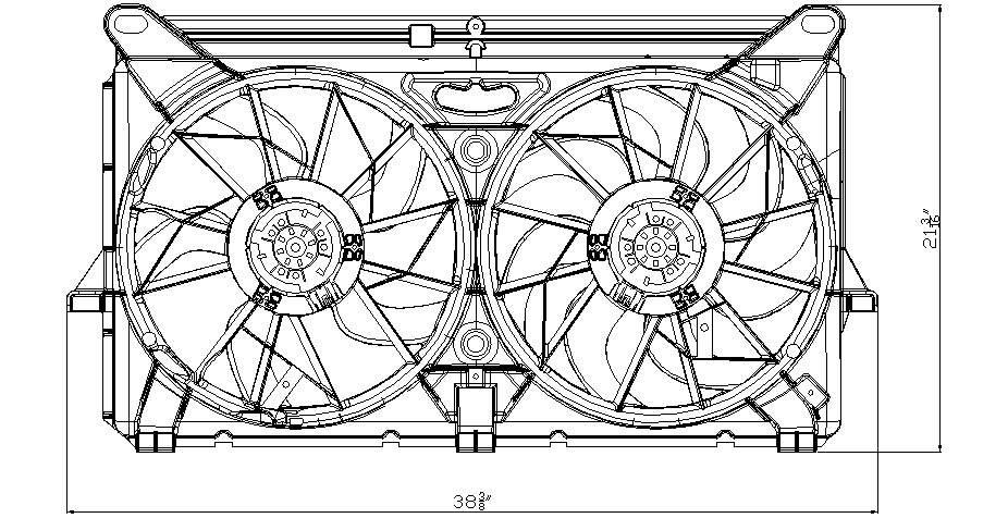 TYC # 622230 Radiator Fan Fits OE # 89024933