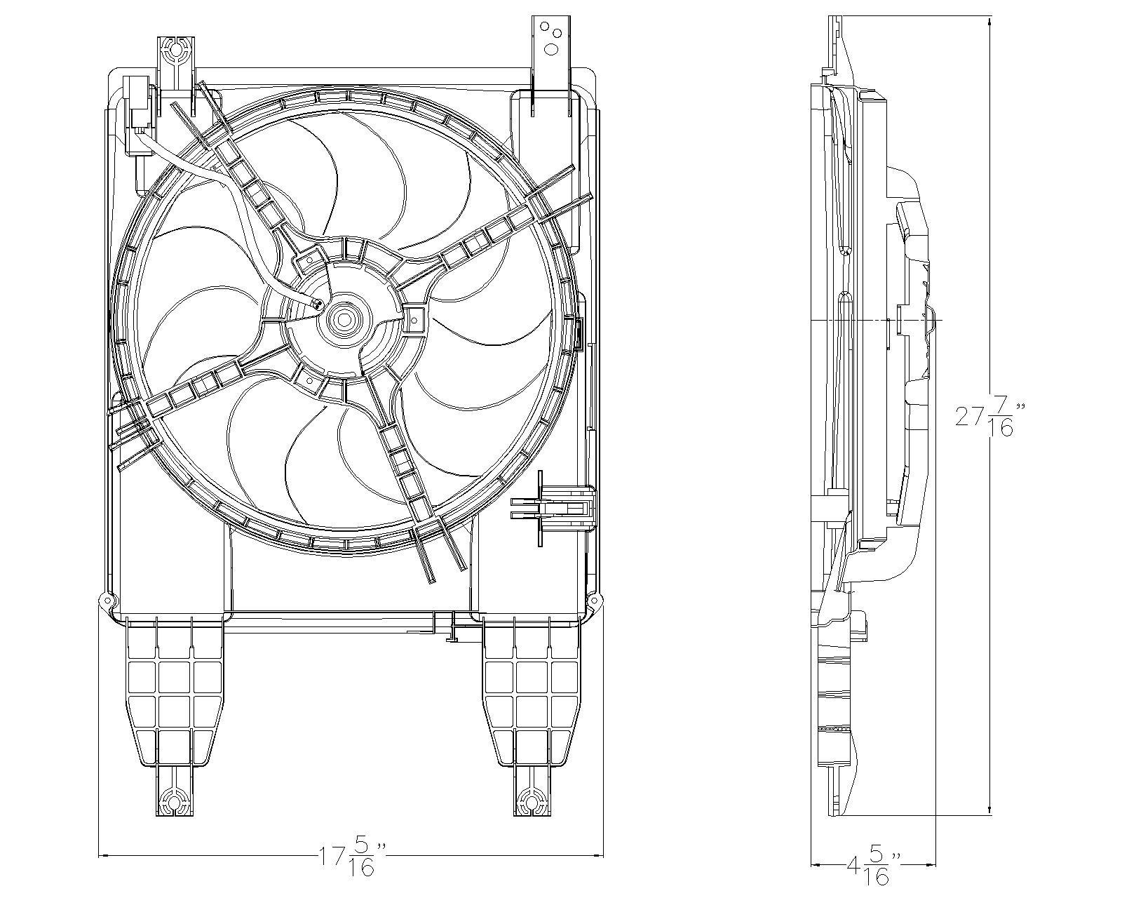 TYC # 622260 Radiator Fan Fits OE # 96808149