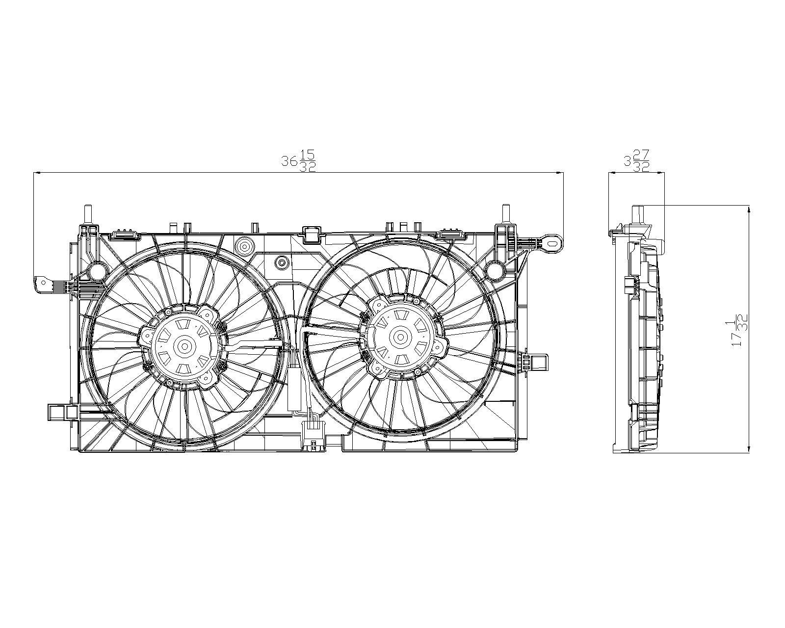 TYC # 622340 Radiator Fan Fits OE # 15907032