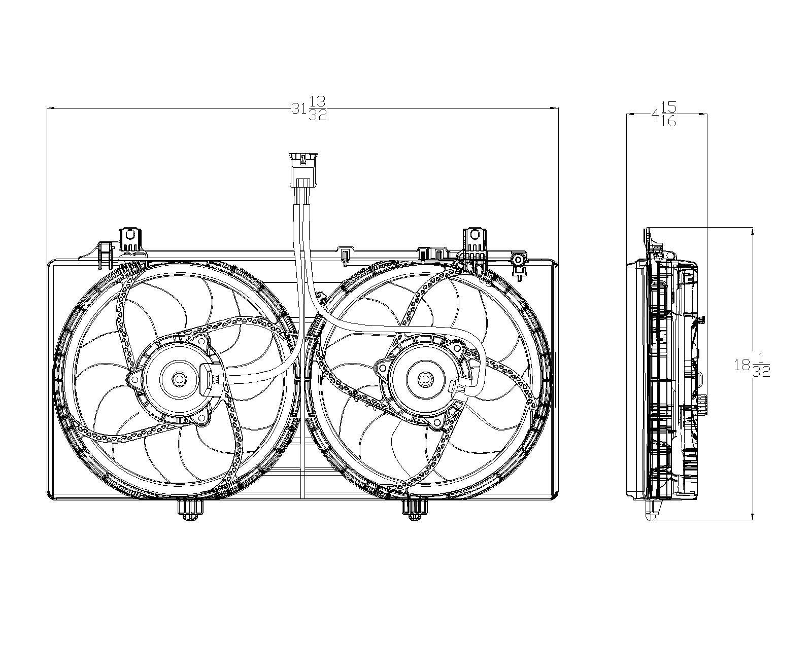 TYC # 622350 Radiator Fan Fits OE # 92218317