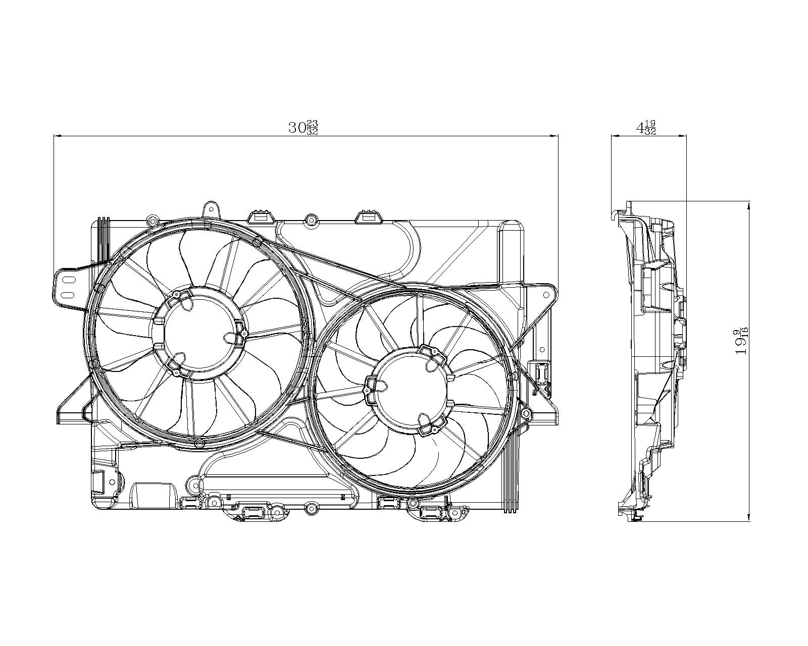 TYC # 622380 Radiator Fan Fits OE # 25952812