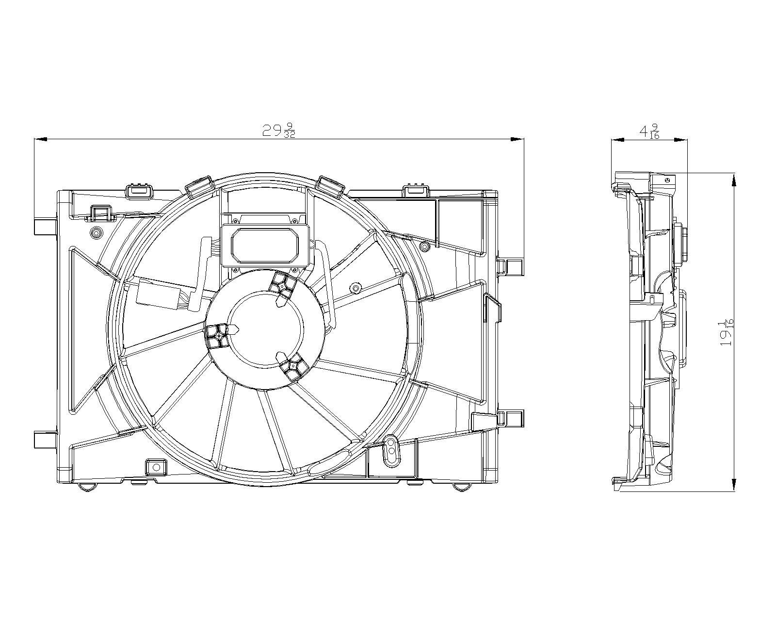 TYC # 622430 Radiator Fan Fits OE # BE5Z 8C607A