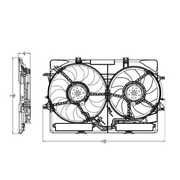 TYC # 622940 Radiator Fan Fits OE # 8K0-121-207-A