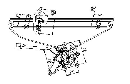 TYC # 660154 Window Regulator Replaces OE # MR991325