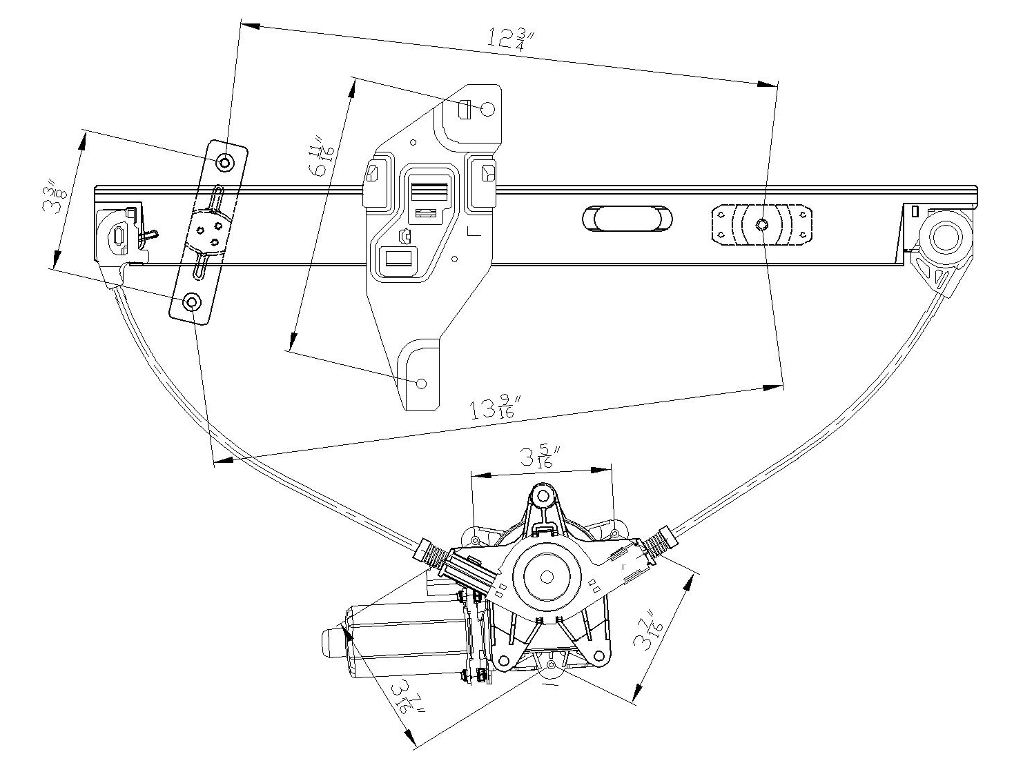 TYC # 660199 Window Regulator Replaces OE # 20961189